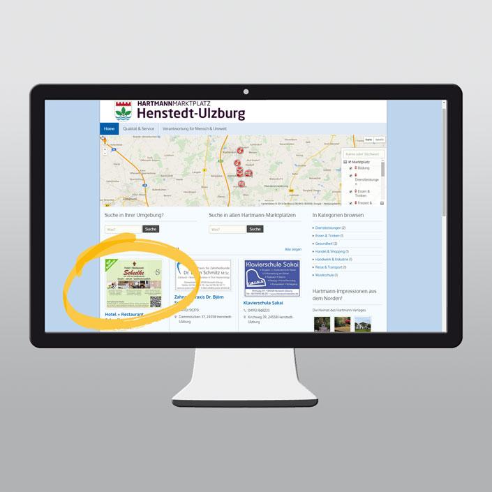 Hartmann-Marktplatz Homepage (Desktop Version)